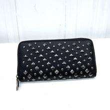 Long Rivet Punk Style Stoned Wallet