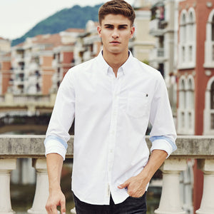 Slim Fit Solid Male Long Sleeve Shirt