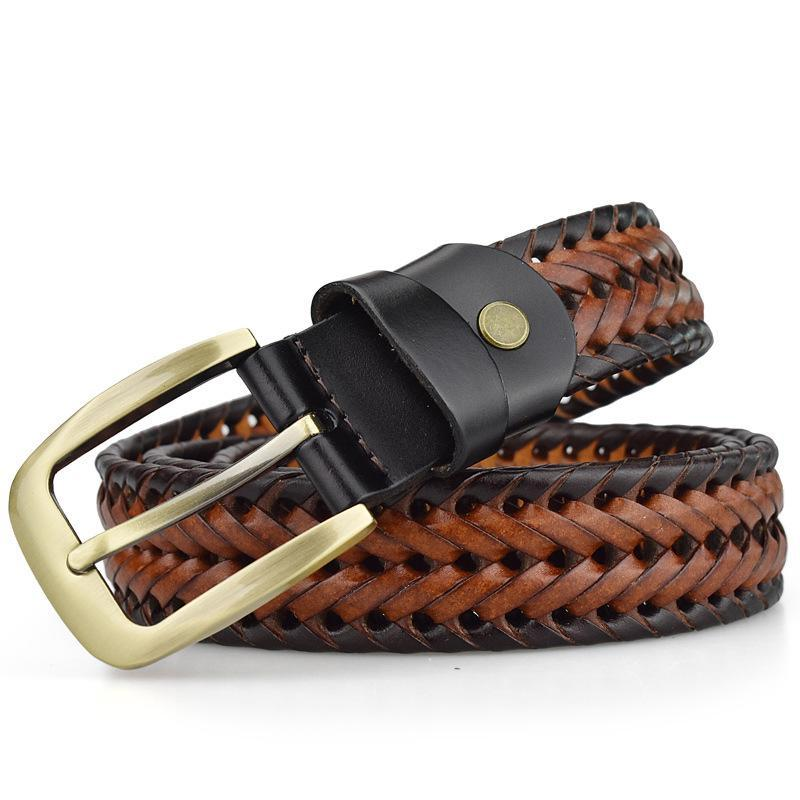 Braided Woven Cow Strap Belt