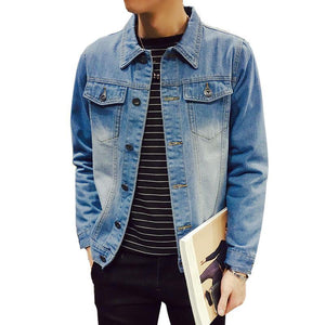 Chaqueta Hombre Sleek Denim Jacket