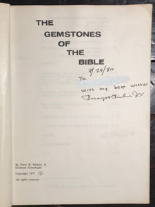 SIGNED - GEMSTONES OF THE BIBLE - PERCY PERKINS, 1978 - Biblical Gems Meanings
