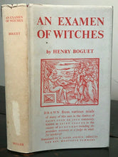 AN EXAMEN OF WITCHES - Boguet, 1971 WITCHCRAFT WITCH SORCERY PERSECUTION TRIALS