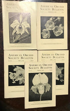 AMERICAN ORCHID SOCIETY BULLETIN, Original 1944 Issues (5 Journals) JANUARY-MAY