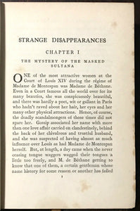 STRANGE DISAPPEARANCES - Elliott O'Donnell, 1st 1927 - MYSTERIES MISSING PEOPLE