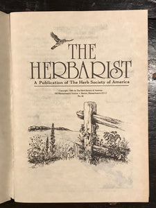 THE HERBARIST: THE HERB SOCIETY OF AMERICA - LOT OF 10, 1980-90  NATURE, HERBALS