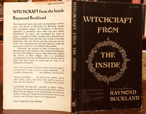 WITCHCRAFT FROM THE INSIDE - Raymond Buckland, 1975 - WICCA OCCULT - SIGNED