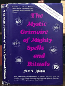 MYSTIC GRIMOIRE OF MIGHTY SPELLS & RITUALS - 1st Ed 1976, w/ AMULET KIT - MAGICK