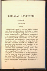 ZODIACAL INFLUENCES FROM SEED TO FLOWER - Harte, 1927 - SIGNS ZODIAC DIVINATION
