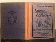 1908 - ANIMAL ANALOGUES: THE PUSS & THE OCTO-PUS; Whimsical Children's Rhymes