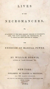 1835 - LIVES OF THE NECROMANCERS - William Godwin - MAGICK WITCHCRAFT DIVINATION