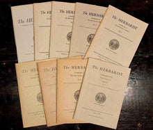 THE HERBARIST: THE HERB SOCIETY OF AMERICA - LOT OF 9, 1942-58 - NATURE, HERBALS