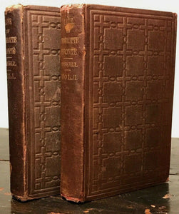 THE LIFE OF CHARLOTTE BRONTE - Gaskell, 1st/1st U.S. Ed. 1857 - 2 Volumes