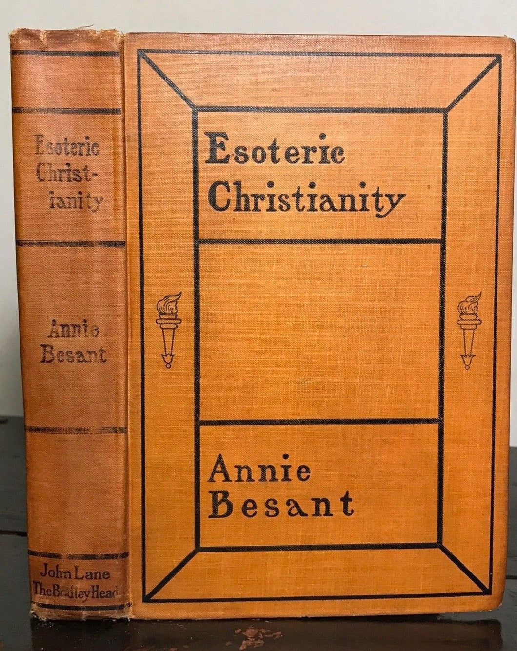 ANNIE BESANT - ESOTERIC CHRISTIANITY, 1st/1st 1902 - Theosophy Mysticism Occult
