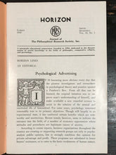 MANLY P. HALL - HORIZON JOURNAL - Full Last FINAL YEAR, 1958 - PHILOSOPHY OCCULT
