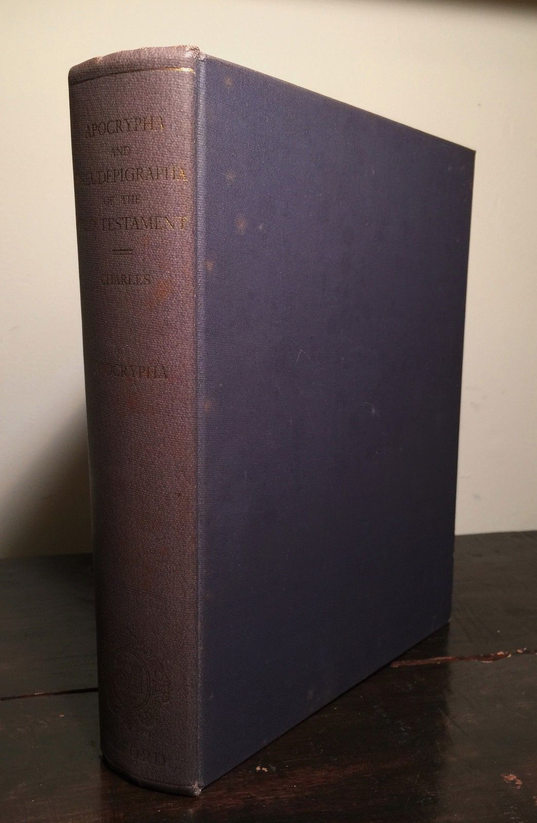 APOCRYPHA AND PSEUDEPIGRAPHA OF THE OLD TESTAMENT Vol I, RH Charles 1st Ed 1963