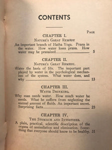 THE PRACTICAL WATER CURE in India, Oriental Countries - Yogi Ramacharaka, 1909