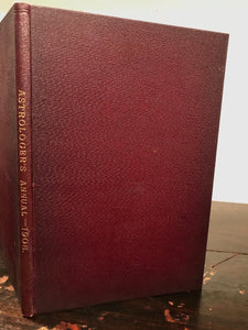 THE ASTROLOGER'S ANNUAL - Very SCARCE 1st Ed, 1908 - Alan Leo - ASTROLOGY OCCULT