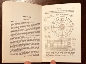 ASTROLOGY IN RELATION TO MIND & CHARACTER - 1st Ed, 1925 HOROSCOPE MENTAL STATES