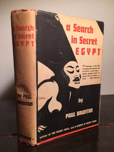 SEARCH IN SECRET EGYPT Paul Brunton 1st/1st 1936 HC/DJ, Illustrated Egypt Occult