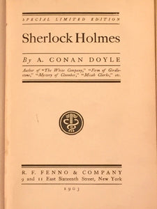 SHERLOCK HOLMES by Arthur Conan Doyle — SPECIAL LIMITED EDITION, 1903