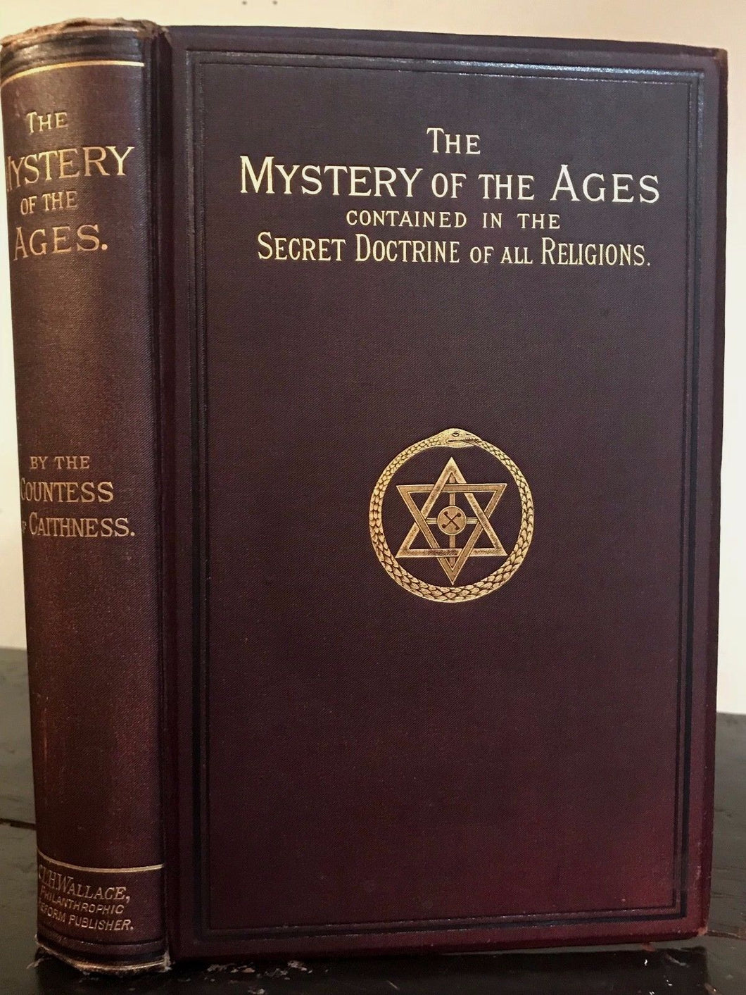 MYSTERY OF THE AGES: SECRET DOCTRINE OF ALL RELIGIONS - SINCLAIR 1st 1887 SCARCE