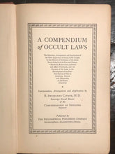 R.S. CLYMER - A COMPENDIUM OF OCCULT LAWS 1st 1938, HERMETIC ALCHEMY ROSICRUCIAN