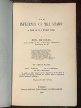 INFLUENCE OF THE STARS: BOOK OF OLD WORLD LORE - Baughan, 1889 CHIROMANCY OCCULT