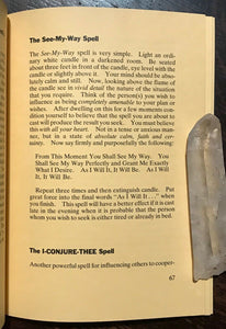 HOW TO TAP THE MAGIC POWER IN SPELLS, INCANTATIONS & PRAYERS - 1st 1981 MAGICK