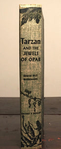 TARZAN AND THE JEWELS OF OPAR, by Edgar Rice Burroughs, 1918 (1940s Ed), HC/DJ