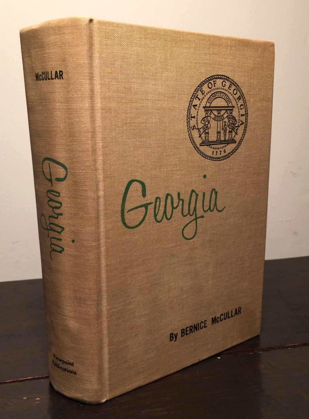 THIS IS YOUR GEORGIA Bernice McCullar 1st Ed. - Maps, Illus 1966 HC SIGNED, RARE