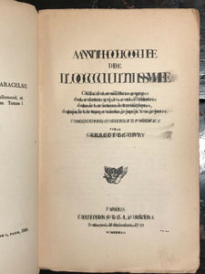 ANTHOLOGIE DE L'OCCULTISME, De Givry - 1st Ed, 1922 - MAGICK WITCHCRAFT ALCHEMY