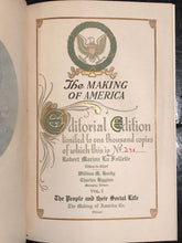 THE MAKING OF AMERICA - R. LA FOLLETTE LIMITED ED 381/1000, 1906 10 Vols Leather