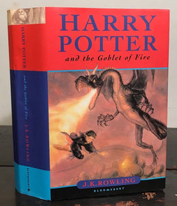 HARRY POTTER & The Goblet of Fire - 1st Ed British UK - JK Rowling 2000, HC/DJ