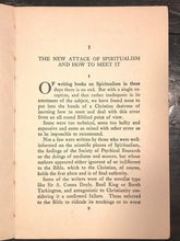 SPIRITISM AND THE FALLEN ANGELS - James Gray, 1st Ed, 1920 NEPHILIM SATAN DEMONS