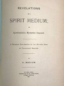 REVELATIONS OF A SPIRIT MEDIUM, HARRY PRICE 1st/1st 1922 - GHOSTS PSYCHIC MEDIUM