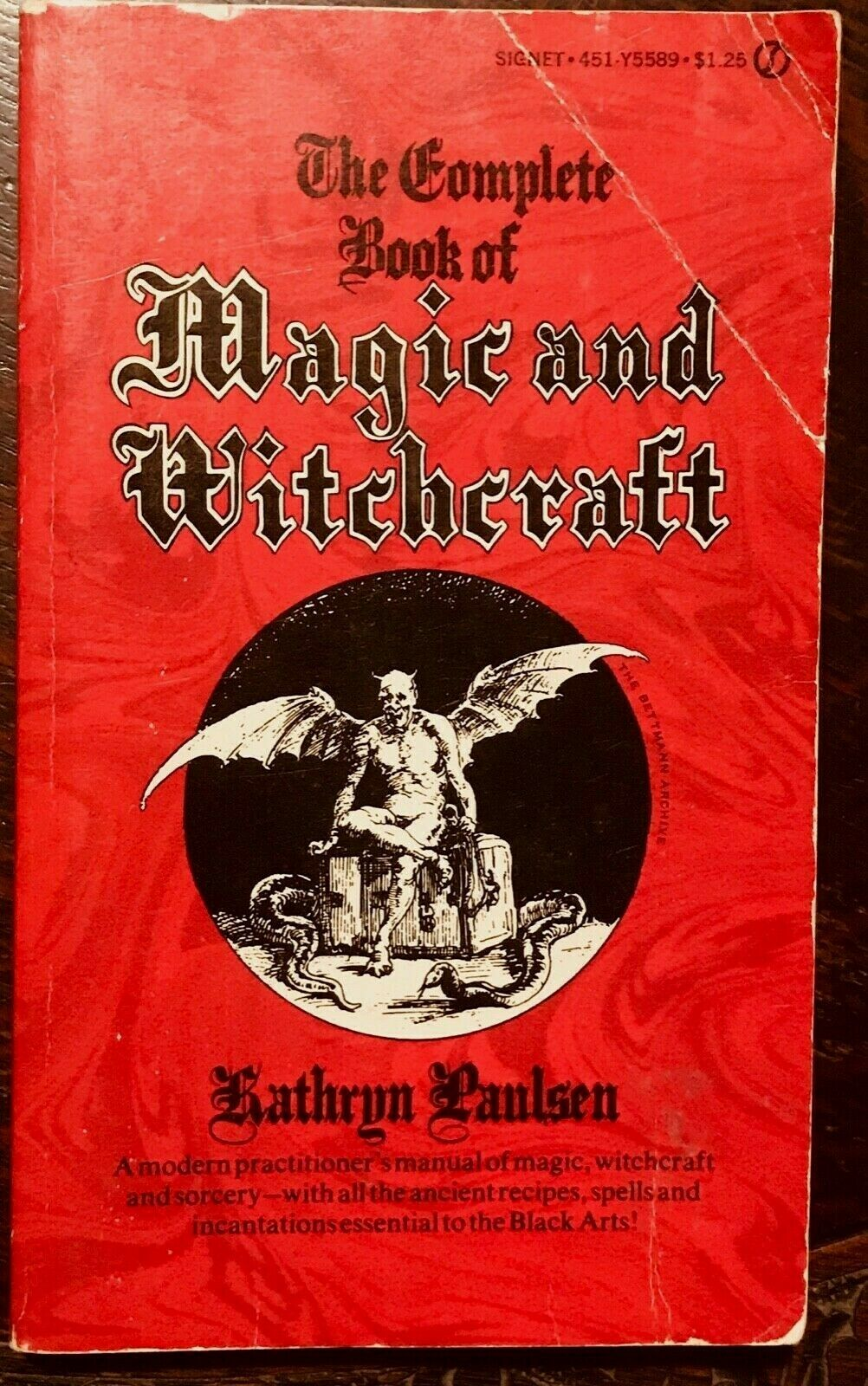 COMPLETE BOOK OF MAGIC AND WITCHCRAFT - Paulsen, 1970 - MAGICK SPELLS TALISMANS