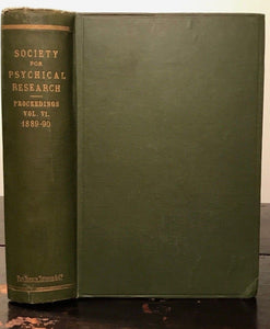 1889-1890 - SOCIETY FOR PSYCHICAL RESEARCH - OCCULT SPIRITUALISM GHOSTS PSYCHIC