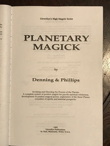 PLANETARY MAGICK: INVOKING POWERS OF PLANETS - Denning, Phillips, 1989 GRIMOIRE