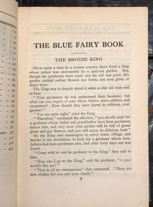 THE BLUE FAIRY BOOK by Andrew Lang, Ca. 1930s, Illustrated