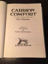 CARRION COMFORT by Dan Simmons, Illustrated — First Edition HC/DJ 1989 Near Mint