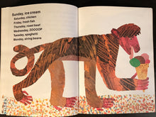 SIGNED ~ Eric Carle TODAY IS MONDAY 1st / 1st SC 1993 HUNGRY CATERPILLAR Author