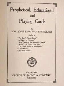 1912 - PROPHETICAL EDUCATIONAL & PLAYING CARDS, 1st/1st Ancient TAROT Knowledge