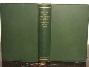 1901 - SOCIETY FOR PSYCHICAL RESEARCH - TRANCE, TELEPATHY - JAMES HYSLOP, OCCULT