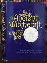 SECRETS OF ANCIENT WITCHCRAFT WITH WITCHES TAROT, 1st 1974 WICCA MAGICK GRIMOIRE