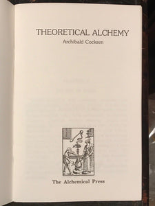 THEORETICAL ALCHEMY - Archibald Cockren - 1988 - Scarce Edition