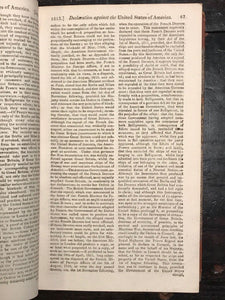 1813 - GENTLEMAN'S MAGAZINE - OFFICIAL DECLARATION OF WAR BY ENGLAND ON THE USA