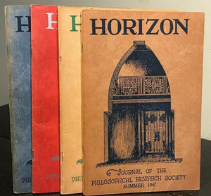 MANLY P. HALL - HORIZON JOURNAL - Full YEAR, 4 ISSUES, 1947 - PHILOSOPHY OCCULT