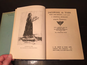 JACOPONE DA TODI, POET AND MYSTIC by Evelyn Underhill 1st/1st, 1919 HC/DJ — RARE
