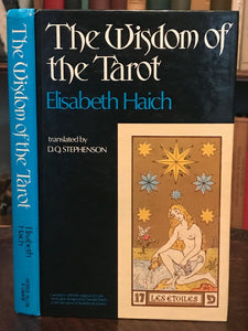 WISDOM OF THE TAROT by E. Haich - 1st, 1975 - Scarce Ed - DIVINATION OCCULT