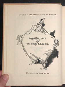 THE COWARDLY LION OF OZ - RUTH PLUMLY THOMPSON 1923 - Frank Baum Wizard of Oz